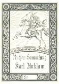 Bücher Sammlung Karl Anklam (odkaz v elektronickém katalogu)