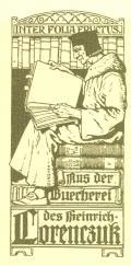 Mus der Buechererei des Heinrich Lorenczuk (odkaz v elektronickém katalogu)