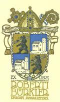 EX LIBRIS ROBERTI BÜRKLER EPISCOPI SANGALLENSIS (odkaz v elektronickém katalogu)