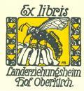 Ex libris Landerziehungsheim Hof Oberkirch (odkaz v elektronickém katalogu)