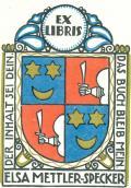 EX LIBRIS ELSA METTLER-SPECKER (odkaz v elektronickém katalogu)