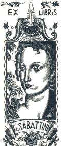 EX LIBRIS G. SABATTINI (odkaz v elektronickém katalogu)