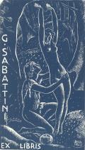G. SABATTINI EX LIBRIS (odkaz v elektronickém katalogu)