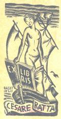 EX LIBRIS CESARE RATTA (odkaz v elektronickém katalogu)