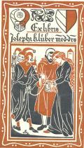 Exlibris Josephi klüber med. drs. (odkaz v elektronickém katalogu)