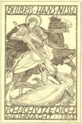 EX LIBRIS HANS NISSL ICH SCHÜTZE DICH WEIHNACH 1915 (odkaz v elektronickém katalogu)