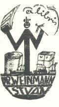 ex libris DR. WEINMANN ISTVÁN (odkaz v elektronickém katalogu)