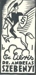 Ex Libris DR. ANDREAS SZEBENYI (odkaz v elektronickém katalogu)
