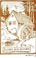 EX LIBRIS DR. B. MÜLLER (odkaz v elektronickém katalogu)
