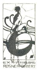EX 1919-1920 LIBRIS ROSNER ROBERT (odkaz v elektronickém katalogu)