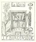 Ex libris J.F.BURGERSDIJK (odkaz v elektronickém katalogu)