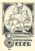 EXLIBRIS HERMANN EDER (odkaz v elektronickém katalogu)