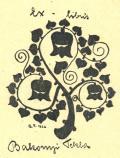 Ex-libris Bakonyi Tekla (odkaz v elektronickém katalogu)