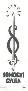 EX LIBRIS SOMOGYI GYULA (odkaz v elektronickém katalogu)