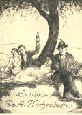Ex libris Dr. A. Kuchenbecker (odkaz v elektronickém katalogu)