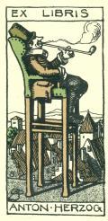 EX LIBRIS ANTON HERZOG (odkaz v elektronickém katalogu)