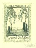 Dieses Buch gehört Margarete Zickfeldt (odkaz v elektronickém katalogu)