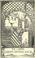 EX-LIBRIS JOSEPH MONSALVATJE (odkaz v elektronickém katalogu)