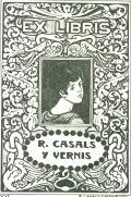 EX LIBRIS R. CASALS Y VERNIS (odkaz v elektronickém katalogu)