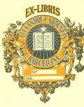 EX-LIBRIS ALEXANDRE CARDUNETS BARCELONA (odkaz v elektronickém katalogu)