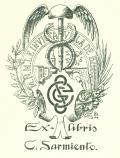 Ex-libris C. Sarmiento (odkaz v elektronickém katalogu)