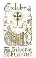 Exlibris Fray Silverio de Mataró (odkaz v elektronickém katalogu)