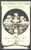 ECOLE NORMALE EMILE ANDRÉ INSTITUTRICES BRUXELLES EX-LIBRIS (odkaz v elektronickém katalogu)