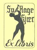 Sv. Aage Kjær Ex libris (odkaz v elektronickém katalogu)