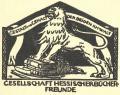 GESELLSCHAFT HESSISCHERBÜCHER FREUNDE (odkaz v elektronickém katalogu)