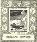 EX LIBRIS DOUGLAS MAWSON (odkaz v elektronickém katalogu)