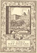 EX LIBRIS MAY SHEEHAN 21 MACQUARIE PLACE, SYDNEY (odkaz v elektronickém katalogu)
