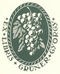 EX LIBRIS GRÜNER GYÖRGY (odkaz v elektronickém katalogu)