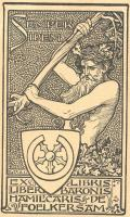 EX LIBRIS LIBER BARONIS HAMILCARIS DE FOELKERSAM (odkaz v elektronickém katalogu)
