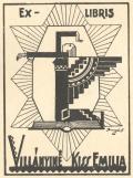 EX-LIBRIS VILLÁNYINÉ KISS EMILIA (odkaz v elektronickém katalogu)