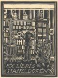 EX LIBRIS HANS DORÉN (odkaz v elektronickém katalogu)