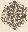 EX LIBRIS DÉRY ERNÖNE (odkaz v elektronickém katalogu)