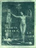 MARTA BORSKÁ EX LIBRIS (odkaz v elektronickém katalogu)