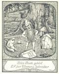Dies Buch gehört Dr=jur Clemens Schreiber (odkaz v elektronickém katalogu)
