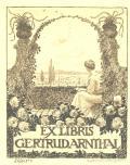 EX LIBRIS GERTRUD ARNTHAL (odkaz v elektronickém katalogu)