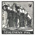 EXLIBRIS SZÖLGYÉNY PÁL (odkaz v elektronickém katalogu)