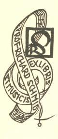 EX LIBRIS ET MUSICIS PROF. RICHARD SCHMID (odkaz v elektronickém katalogu)