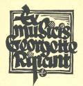 Ex musicis Georgette Ripant (odkaz v elektronickém katalogu)