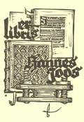 er libris Hannes Joos (odkaz v elektronickém katalogu)