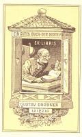 EX-LIBRIS GUSTAV DROBNER LEIPZIG (odkaz v elektronickém katalogu)