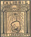EXLIBRIS LOUISE FINK DER LEBENSKAMPF (odkaz v elektronickém katalogu)