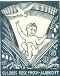 Ex-Libris Rose Frech-Albrecht (odkaz v elektronickém katalogu)