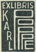 EXLIBRIS KARL POPPE (odkaz v elektronickém katalogu)