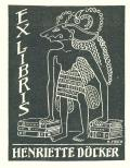 EX LIBRIS HENRIETTE DÖCKER (odkaz v elektronickém katalogu)