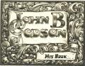 John B. Godson His Book (odkaz v elektronickém katalogu)