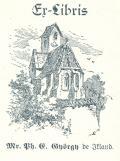 Es libris Mr. Ph. E. György de Ikland (odkaz v elektronickém katalogu)